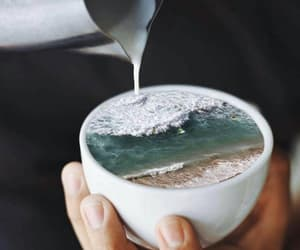 coffee, ocean, and art image