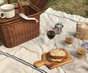 food, picnic, and basket image