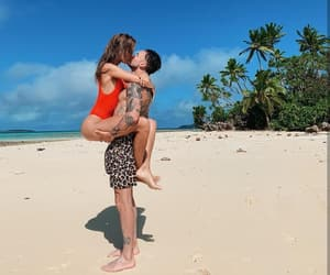 beach, couple, and josephine skriver image