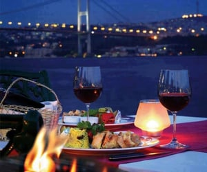 food, romantic, and dinner image