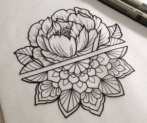 flower, tattoo, and mandala image