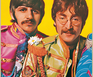 george, the beatles, and john lennon image