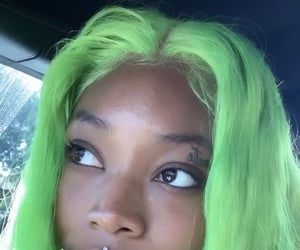freckles, green, and hair image