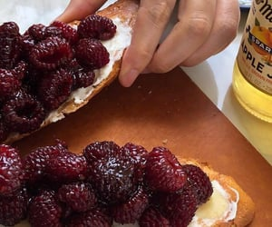 food, delicious, and raspberry image