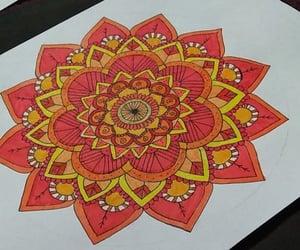 art, dibujo, and mandalas image