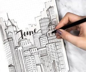 june, bullet journal, and art image