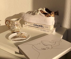 aesthetic, book, and chanel image