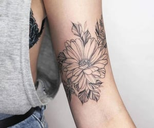 tattoo, ink, and flowers image