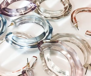 accessories, earrings, and hoops image
