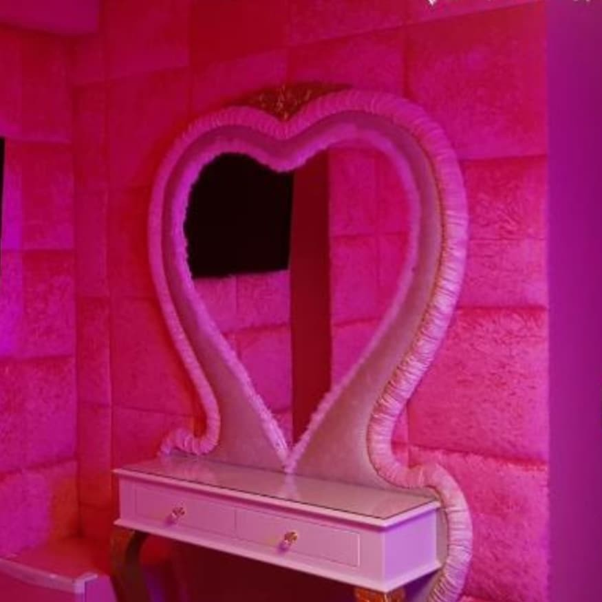 decor, decorating, and pink image