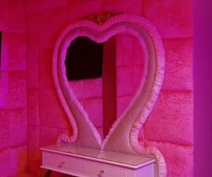 decor, pink, and vanity image