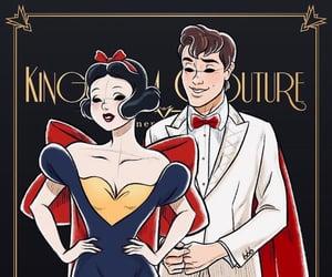 princess, art, and couple image