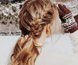 hair, braids, and girl image
