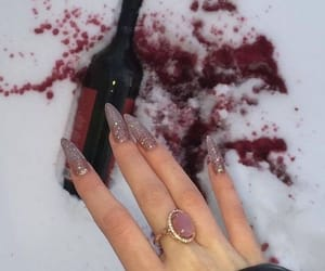 nails, wine, and snow image