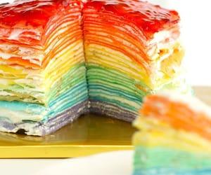 cake, pastel, and crepa image