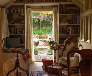 bedroom, dream house, and books image