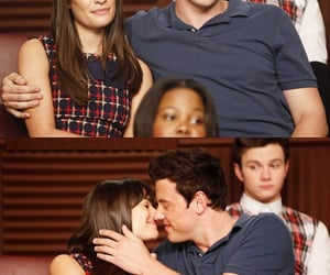 glee, finchel, and cory monteith image