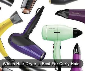 haircare, hairdryer, and curlyhair image