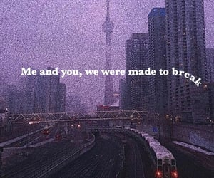 city, CN tower, and Lyrics image