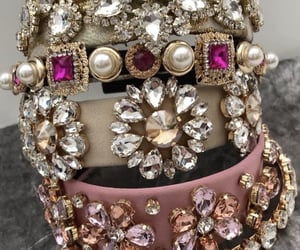 accessories, beige, and crystals image
