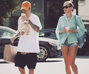 celebrity, justin bieber, and hailey baldwin image