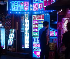 japan, light, and neon image