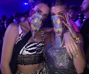 kendall jenner, coachella, and hailey bieber image