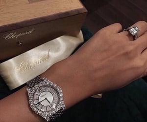 luxury, diamond, and watch image