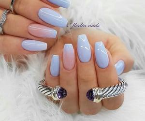 nails, bluenails, and cute image