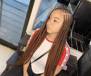 summer, braids, and hairstyles image
