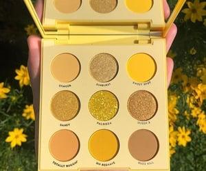yellow, make up, and makeup image