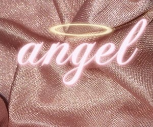 angel, pink, and wallpaper image