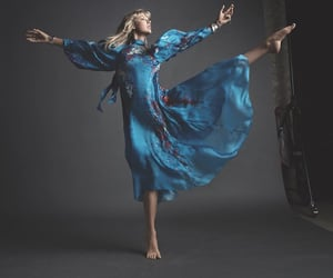 bare feet, blue dress, and Taylor Swift image