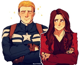 captain america, Marvel, and scarlet witch image