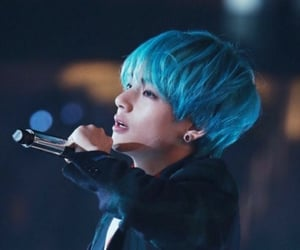 asia, asian, and blue hair image