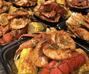 crabs, food, and seafood image