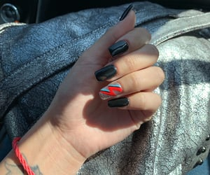 nails, bowie, and blacknails image