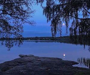 beautiful, lake, and moon image