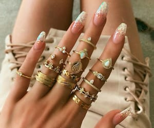 bling, fashion, and gold image