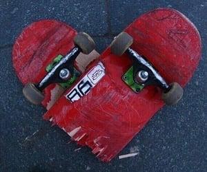 heart, skate, and skateboard image