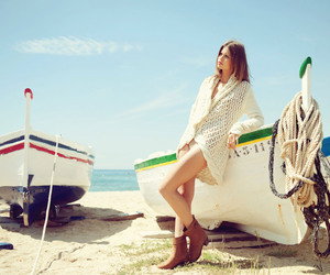 beach, boat, and fashion image