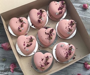 pink, cake, and food image