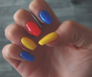 nails, blue, and primary colors image