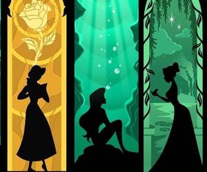 ariel, belle, and disney image