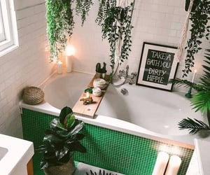 bathroom, candles, and decoration image