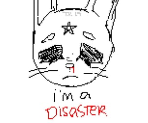 bunny, ms paint, and cyber image
