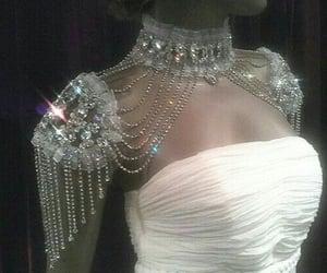 dress, diamonds, and fashion image