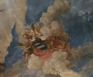 angels, art, and ceiling image