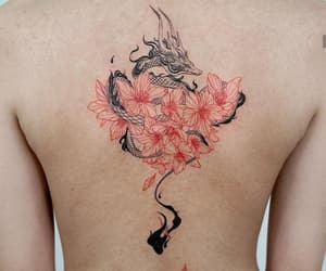 asia, tattoo, and dragon image