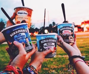 friends, ice cream, and summer image